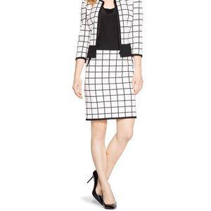 White House Black Market Skirts - Like New! WHBM Windowpane Pencil Skirt
